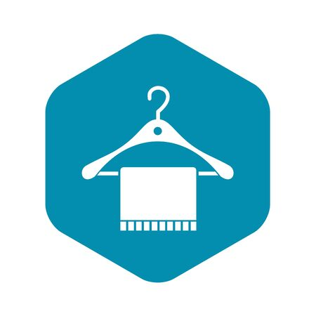 Scarf on coat hanger icon in simple style on a white background vector illustration Illustration