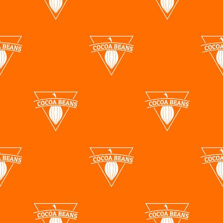 Cocoa beans pattern vector orange