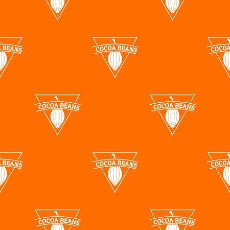 Cocoa beans pattern vector orange