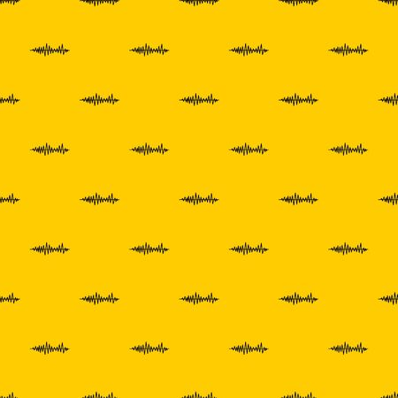 Music sound waves pattern seamless vector repeat geometric yellow for any design Stock Illustratie