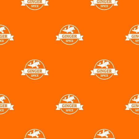 Ginger spice pattern vector orange Illustration