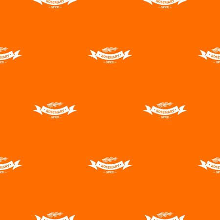 Rosemary spice pattern vector orange