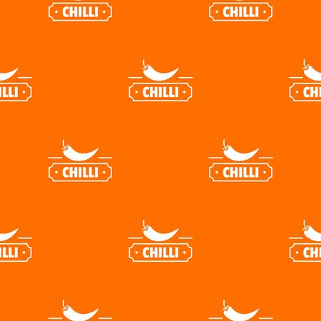 Chilli spice pattern vector orange