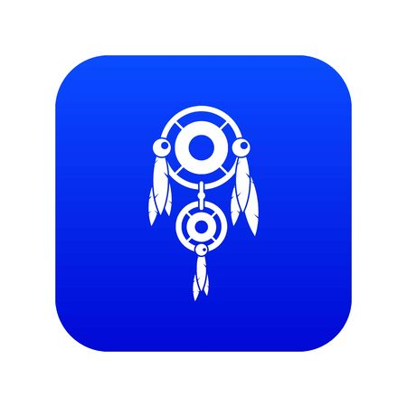 Native american dreamcatcher icon digital blue for any design isolated on white vector illustration