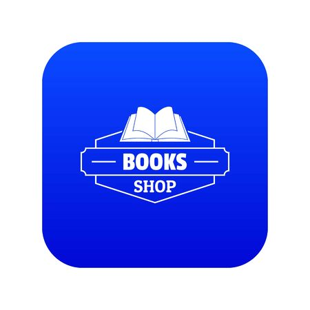 Book shop icon blue vector Illustration