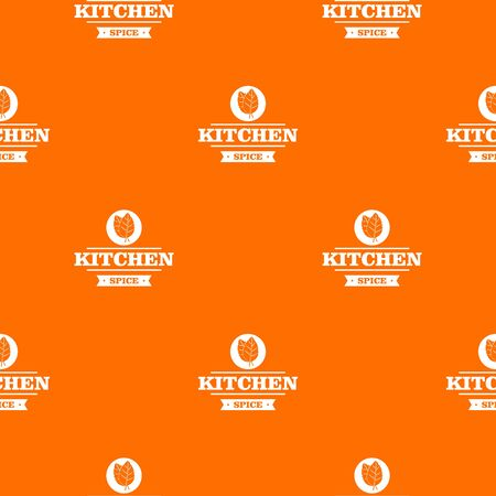 Kitchen spice pattern vector orange