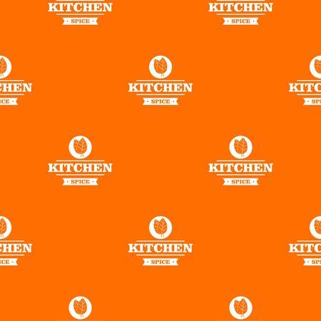 Kitchen spice pattern vector orange