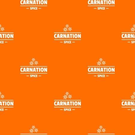 Carnation spice pattern vector orange Illustration