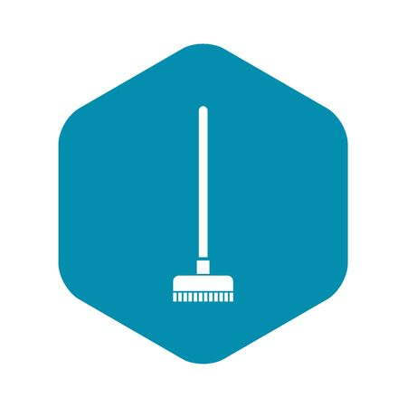 Brush for a floor icon in simple style on a white background vector illustration Иллюстрация