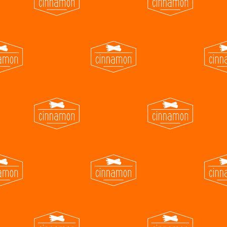 cinnamon pattern vector orange Illustration