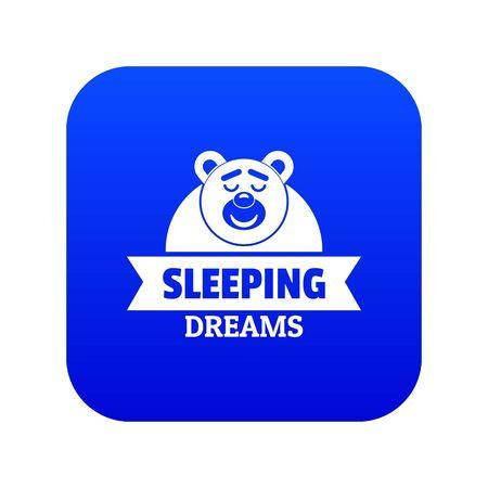 Sleeping dream icon blue vector Ilustração