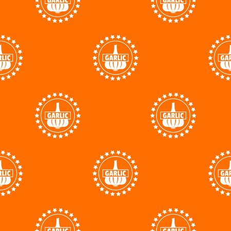 Garlic pattern vector orange