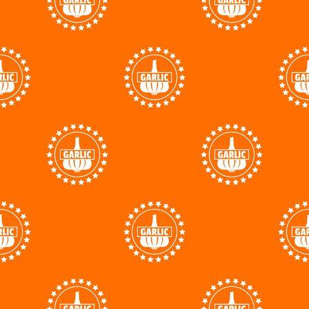 Garlic pattern vector orange