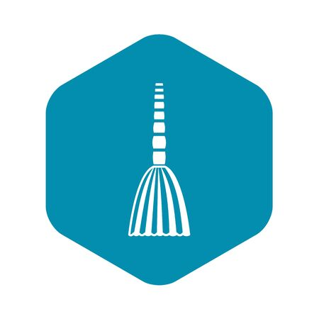 Broom floor icon in simple style on a white background vector illustration