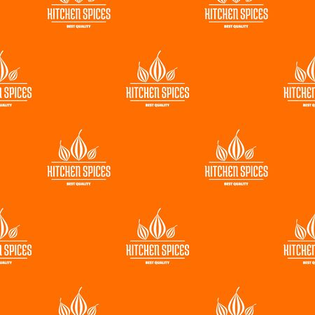 Eco kitchen spice pattern vector orange