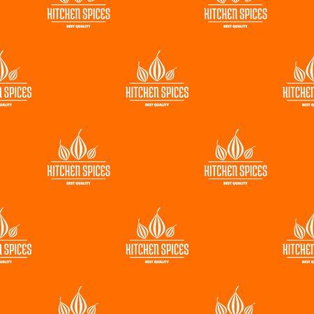 Eco kitchen spice pattern vector orange