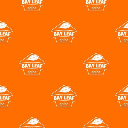 Bay leaf spice pattern vector orange