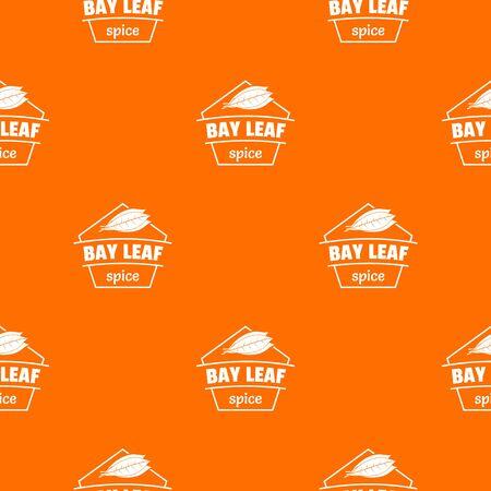 Bay leaf spice pattern vector orange