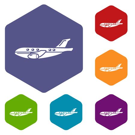 Passenger airplane icon. Simple illustration of passenger airplane vector icon for web Illustration
