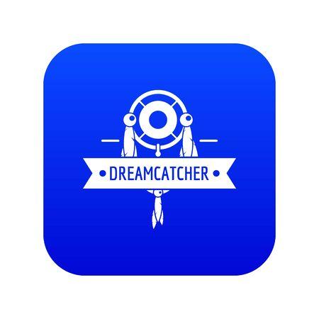 Dreamcatcher icon blue vector