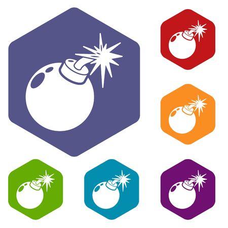 Bomb icon. Simple illustration of bomb vector icon for web Ilustração