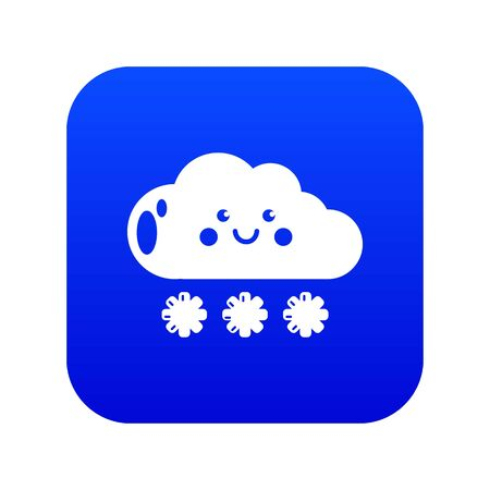 Snow icon blue vector Illustration