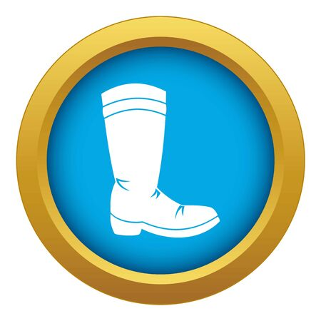 Cowboy boot icon blue vector isolated on white background for any design  イラスト・ベクター素材