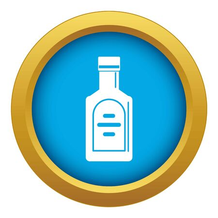 Bottle of whiskey icon blue vector isolated