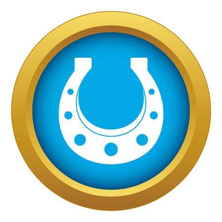 Horseshoe icon blue vector isolated on white background for any design