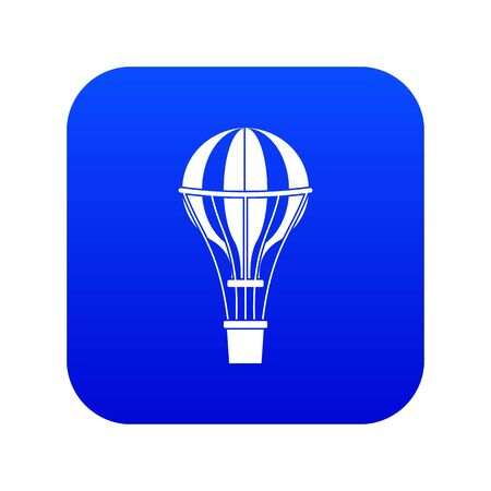 Air balloon journey icon digital blue for any design isolated on white vector illustration