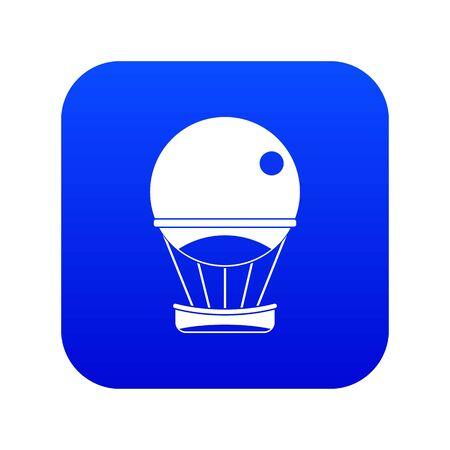 Aerostat balloon icon digital blue for any design isolated on white vector illustration