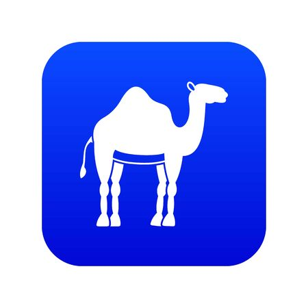 Camel icon digital blue for any design isolated on white vector illustration  イラスト・ベクター素材