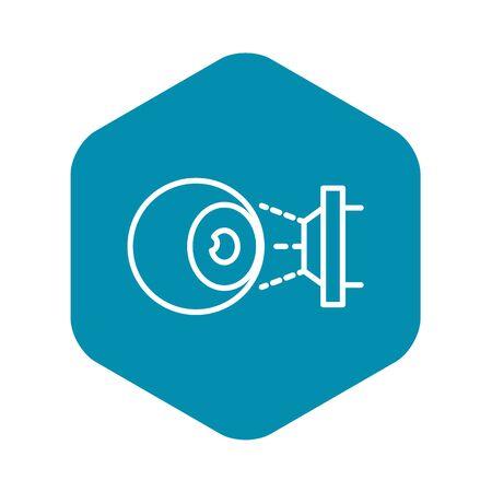 Eyeball laser inspection icon. Outline eyeball laser inspection vector icon for web design isolated on white background