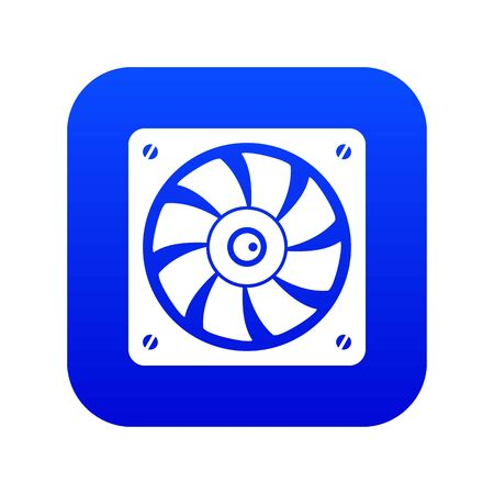 Computer fan icon digital blue for any design isolated on white vector illustration