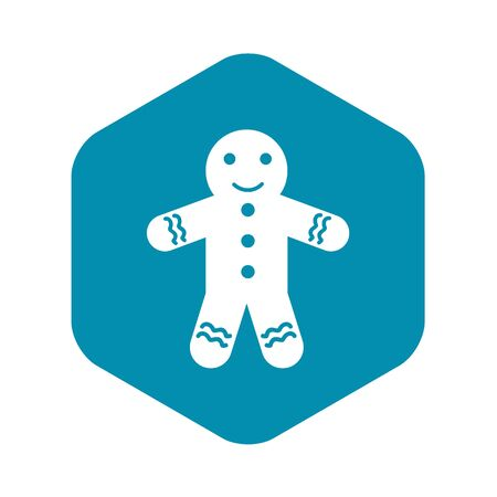 Gingerbread man icon in simple style on a white background vector illustration