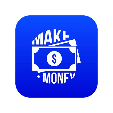 Make money icon blue vector Imagens - 126053441