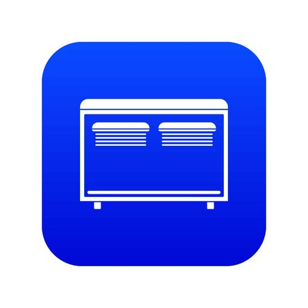 Home equipment for heating icon digital blue for any design isolated on white vector illustration