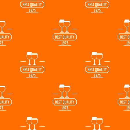 Wineglass pattern vector orange