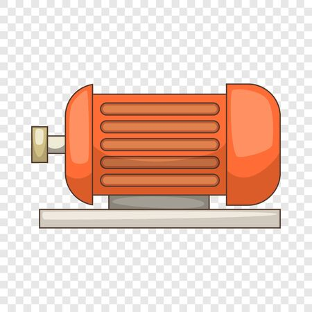 Electric motor icon, cartoon style