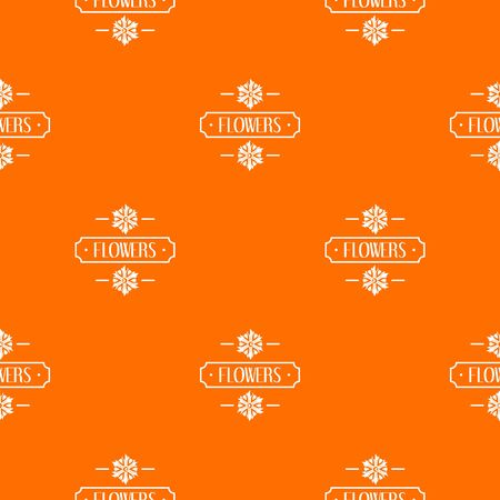 Flower pattern vector orange