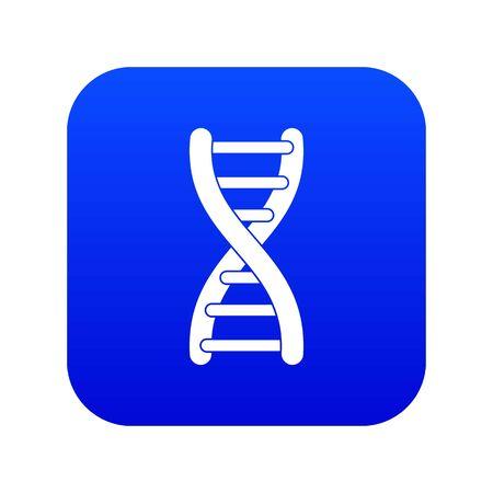 DNA strand icon digital blue for any design isolated on white vector illustration Imagens - 130246419