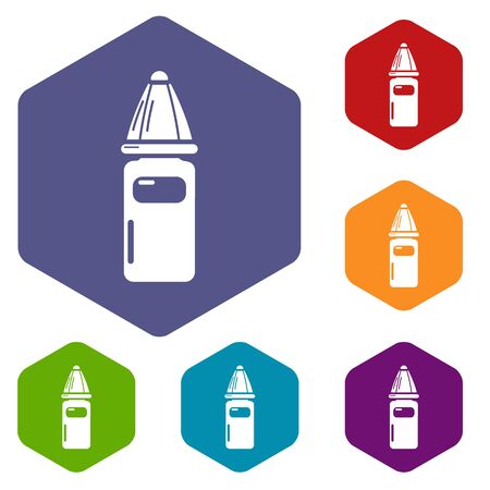 Perfume bottle icon. Simple illustration of perfume bottle vector icon for web