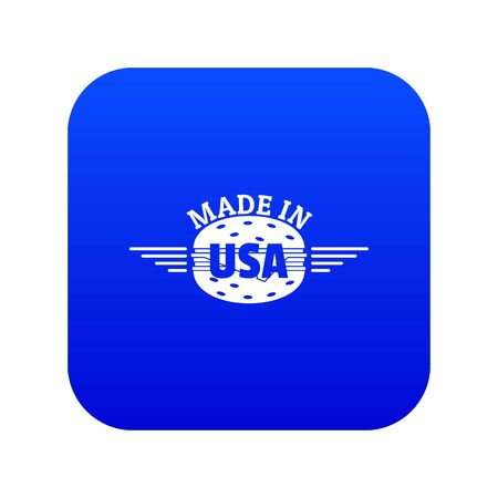 Made in USA icon blue vector Ilustrace