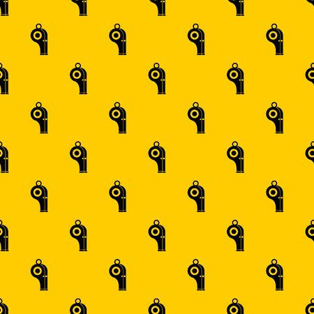 Sport whistle pattern seamless vector repeat geometric yellow for any design