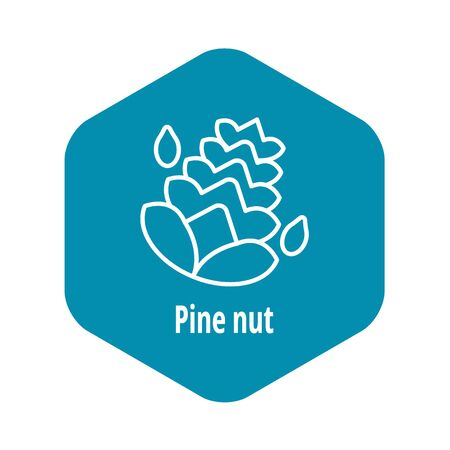 Pine nut icon, outline style Illustration