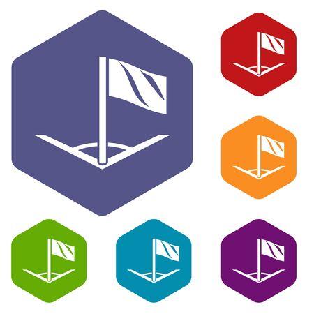 Angular football icon. Simple illustration of angular football vector icon for web