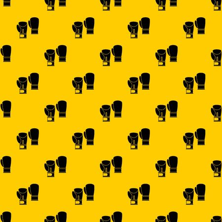 Boxing gloves pattern seamless vector repeat geometric yellow for any design