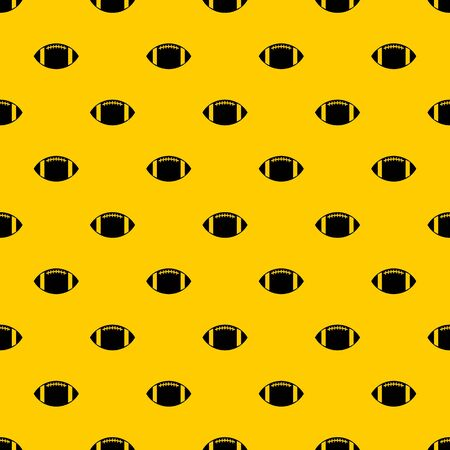 Rugby ball pattern seamless vector repeat geometric yellow for any design Illustration