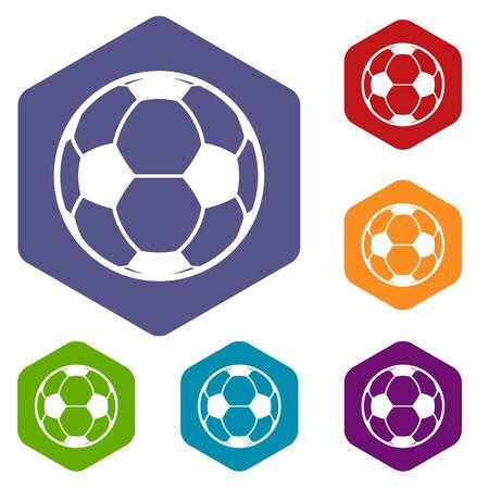 Football icon, simple black style