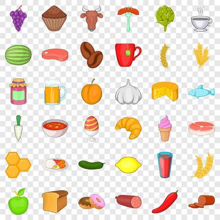 Honey icons set, cartoon style 向量圖像